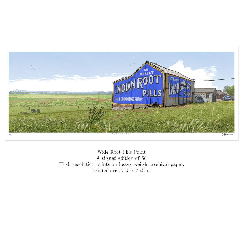 Image of Maitland Root Pills panoramic print.