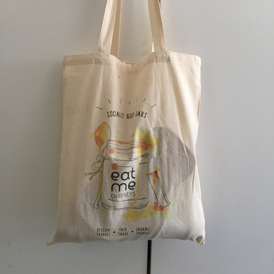 Image of fairtrade tote bag / watercolour
