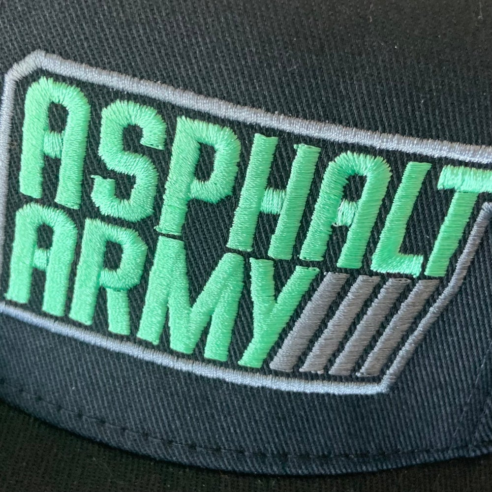 Image of FlexFit Hat Black with Mint/Charcoal Stitching