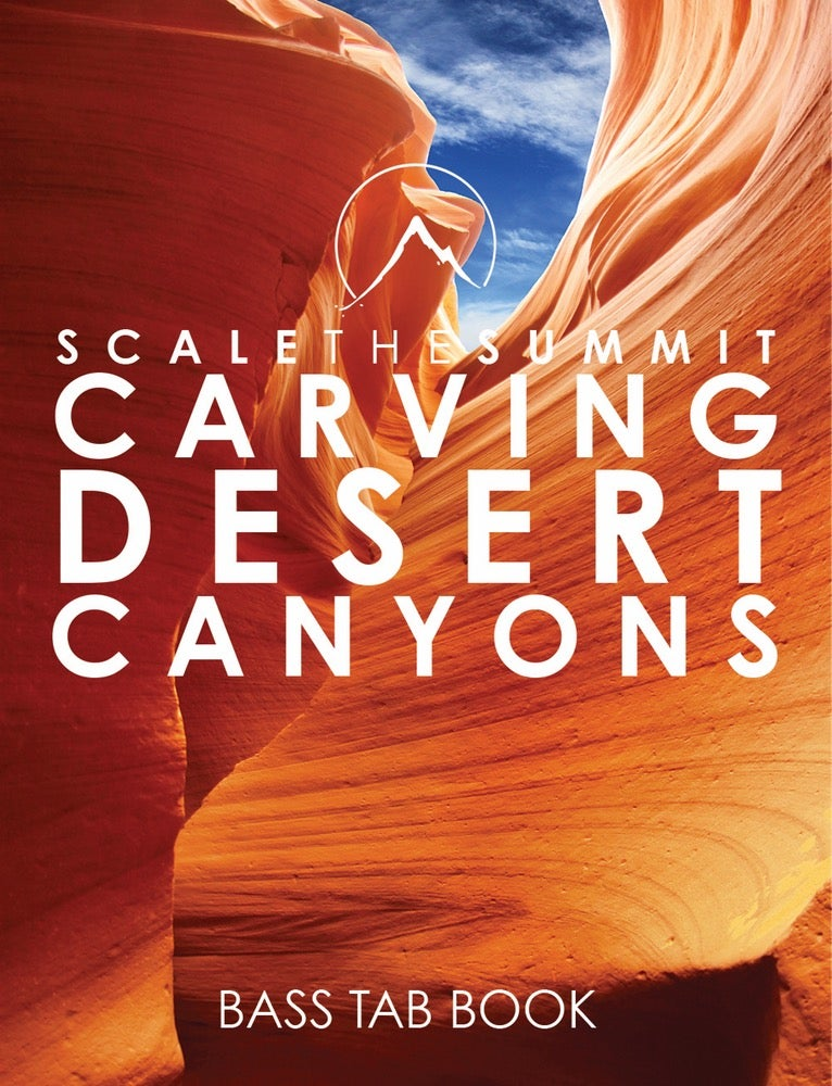 "Image of ""Carving Desert Canyons"" - Bass Tabs • Print"