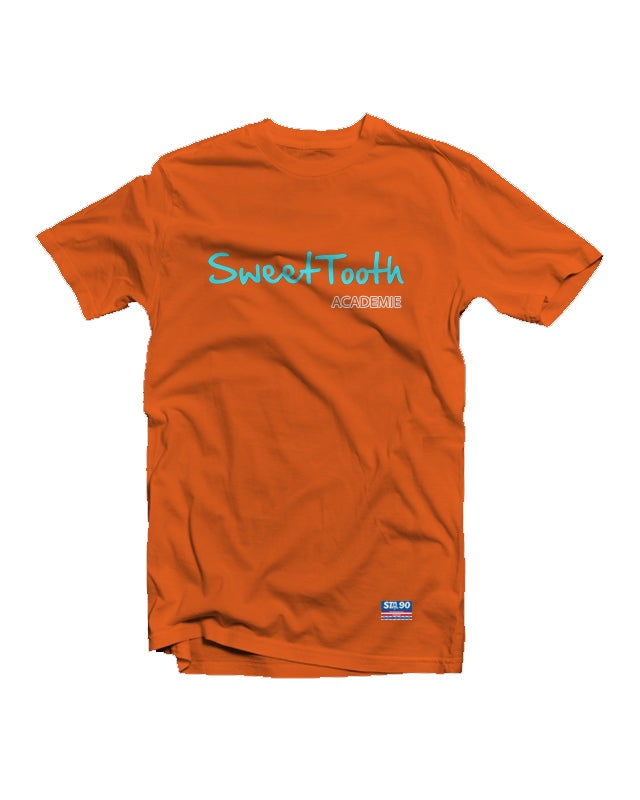 Image of Sta Supply Text Orange Tee