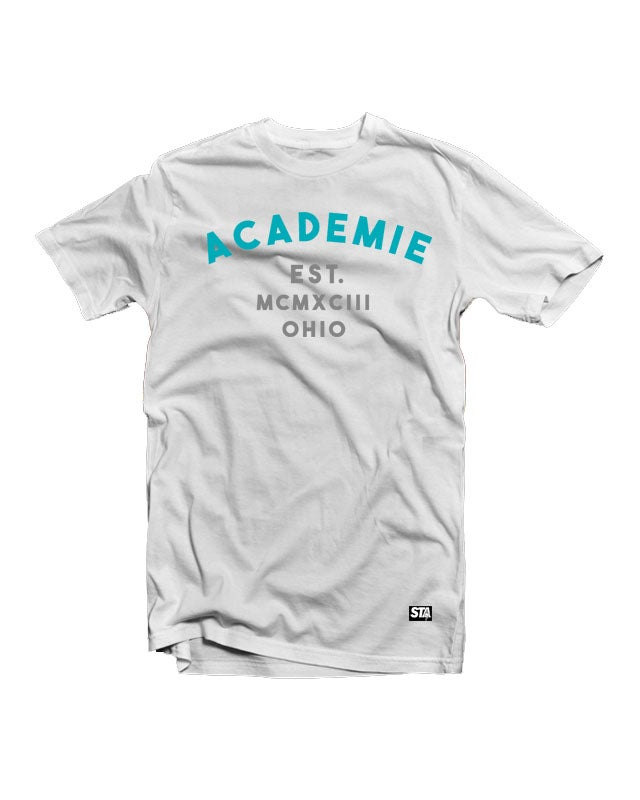 Image of Vice Tee White Teal