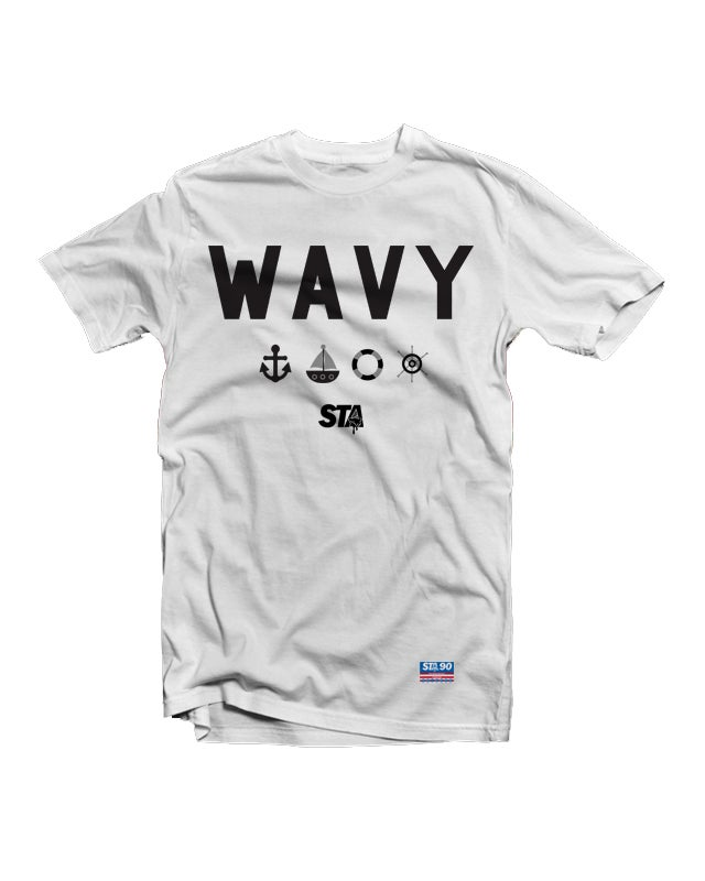 Image of Wavy White Tee