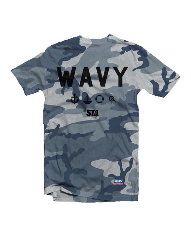Image of Wavy Navy Tee