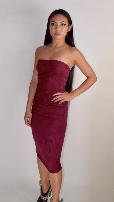 Image of Maroon Tube Dress