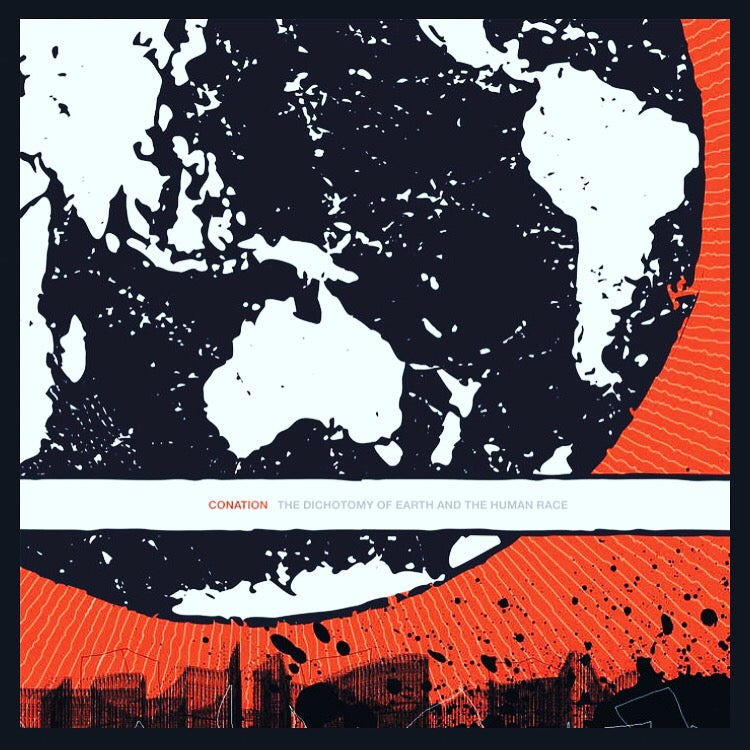 "Image of CONATION ""The Dichotomy of Earth and the Human Race"" 12"" LP"