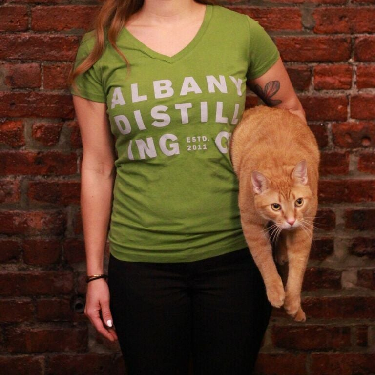 Image of ADCo Womens Green V-Neck