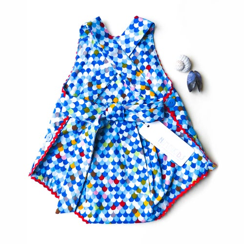 Image of Vintage Bambini Playsuit - Mermaid