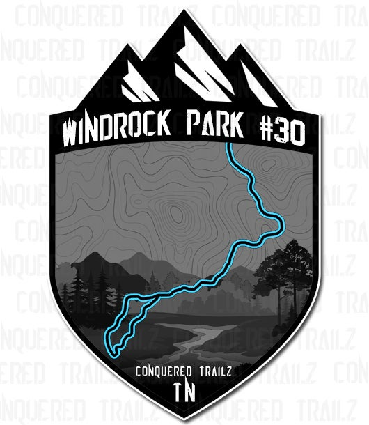"""Image of """"Windrock Park #30"""" Trail Badge"""