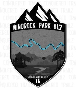 "Image of ""Windrock Park #17"" Trail Badge"