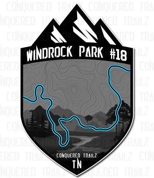 "Image of ""Windrock Park #18"" Trail Badge"