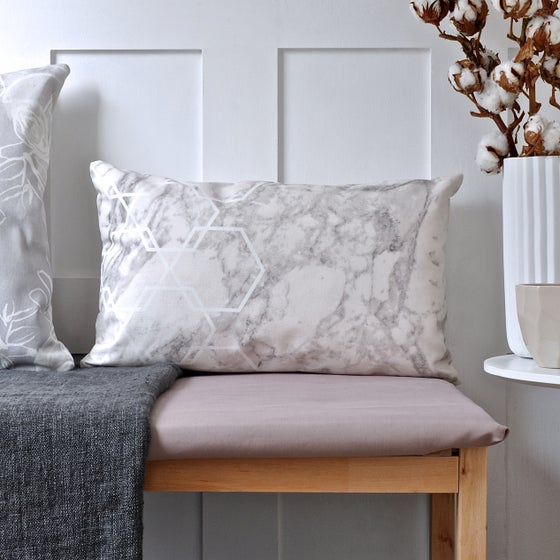 Image of Long Geometric Marble Cushion
