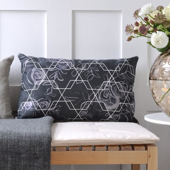 Image of Long Geometric Rose Cushion