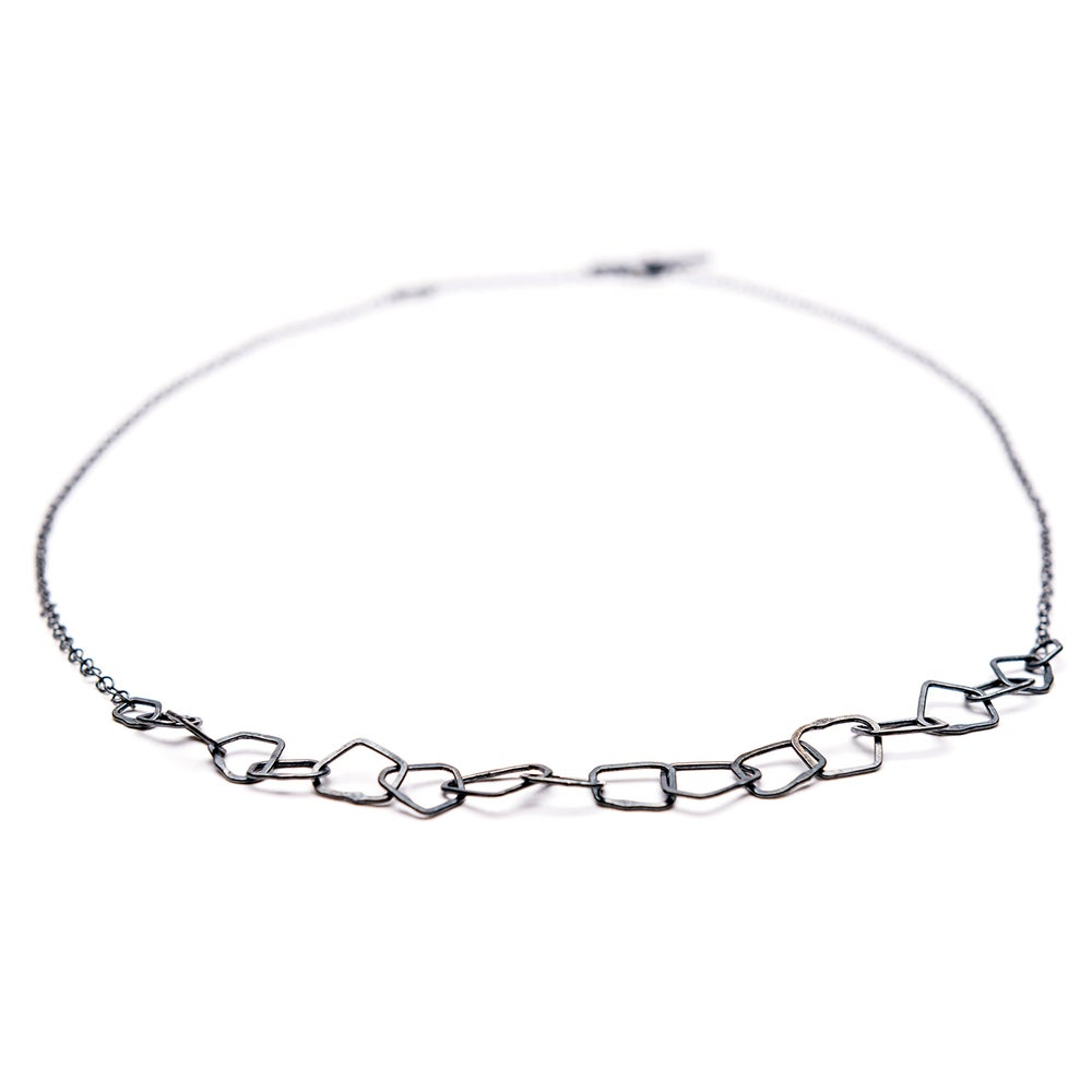 Image of Indian Summer Fine Choker Sterling Silver Oxidised/ sterling silver