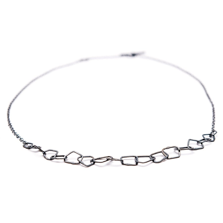 Image of Indian Summer Fine Choker Sterling Silver Oxidised