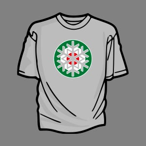 Image of Christmas Mod T-Shirt (Green Roundel)