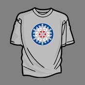 Image of Christmas Mod T-Shirt (Blue Roundel)