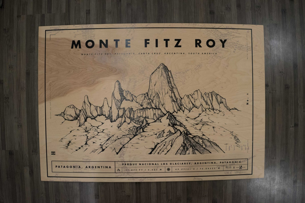 Image of Fitzroy Screen Print on Wood