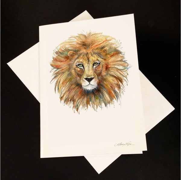 Image of Lion 5-Pack Greeting Card Set