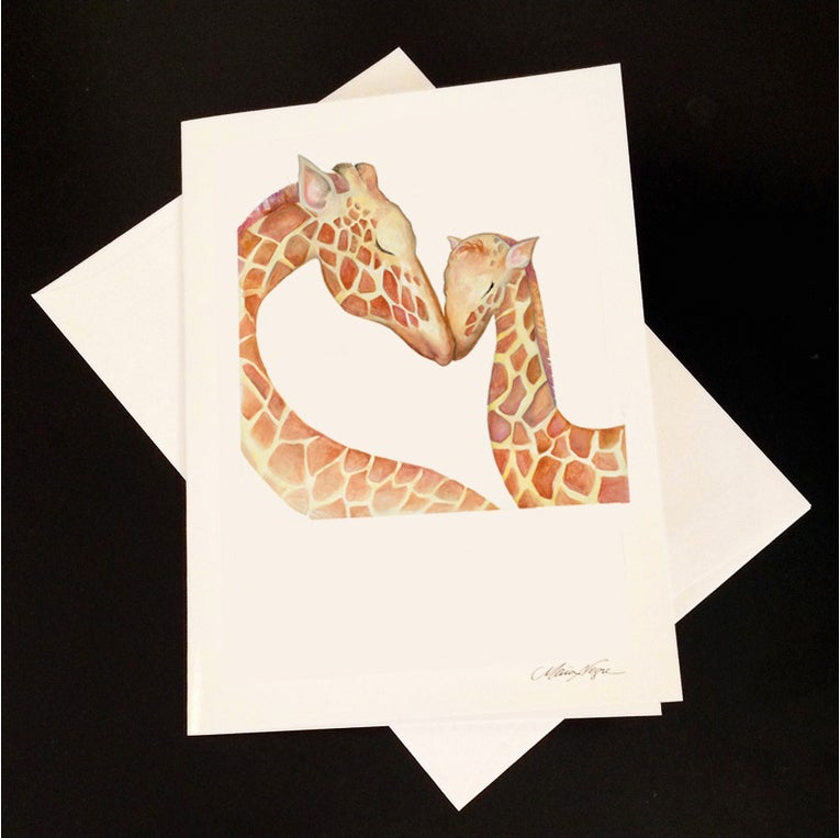 Image of Giraffe 5-Pack Greeting Card Set