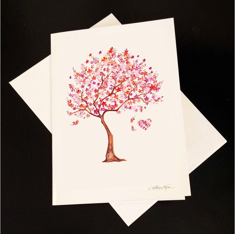Image of Cherry Blossom 5-Pack Greeting Card Set