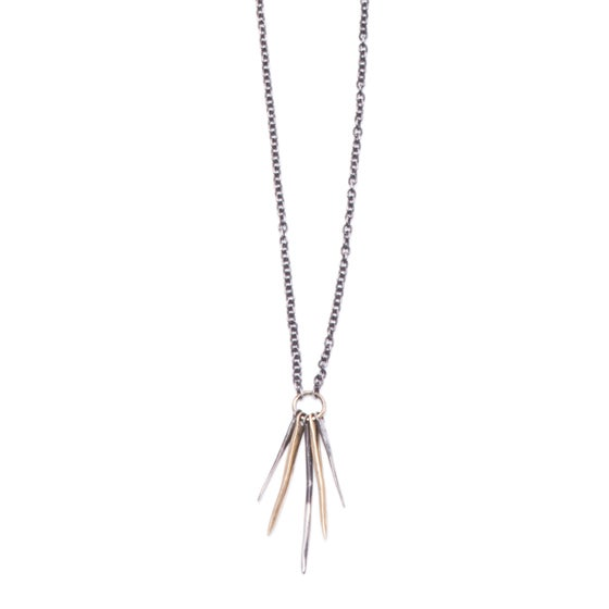 Image of five-spike necklace (P128silbra2024)