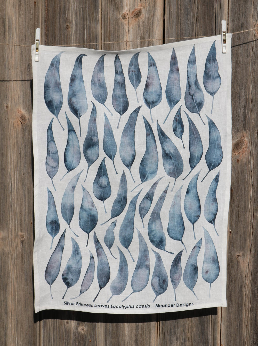Image of Silver Princess Linen Tea Towel