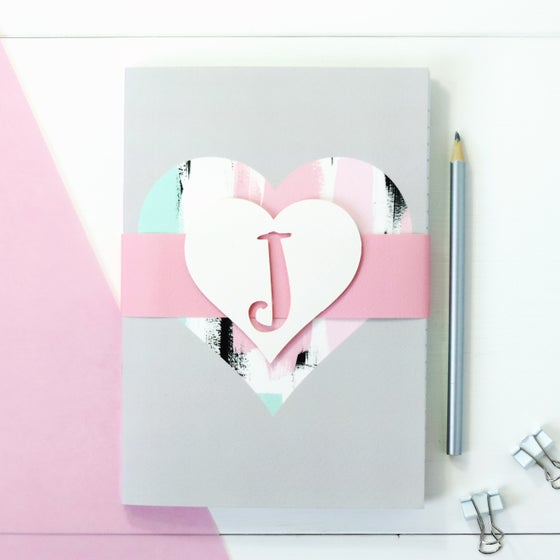 Image of Personalised Love Heart Notebook Set