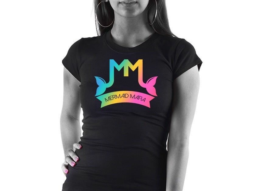 Image of Mermaid Mafia Logo (multi colored tee)