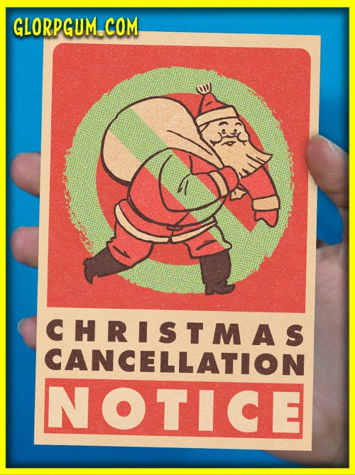 Image of Christmas Cancellation Cards
