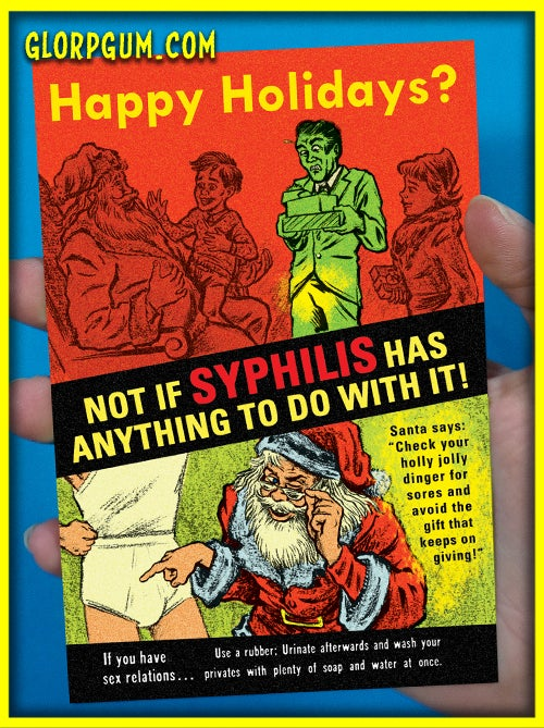 Syphilis Holiday Health cards!