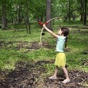 Image of Children's Wooden Bow & Arrow Set