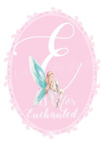 Image of Pink Fairy Initial Print