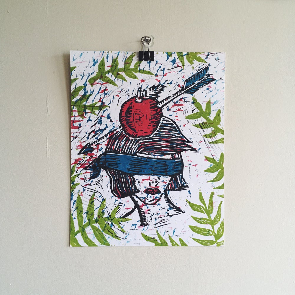 Image of 4-color Woodblock Print