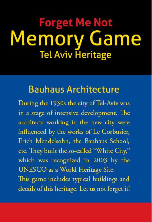 """Image of """"Forget Me Not"""" Bauhaus Memory Game"""