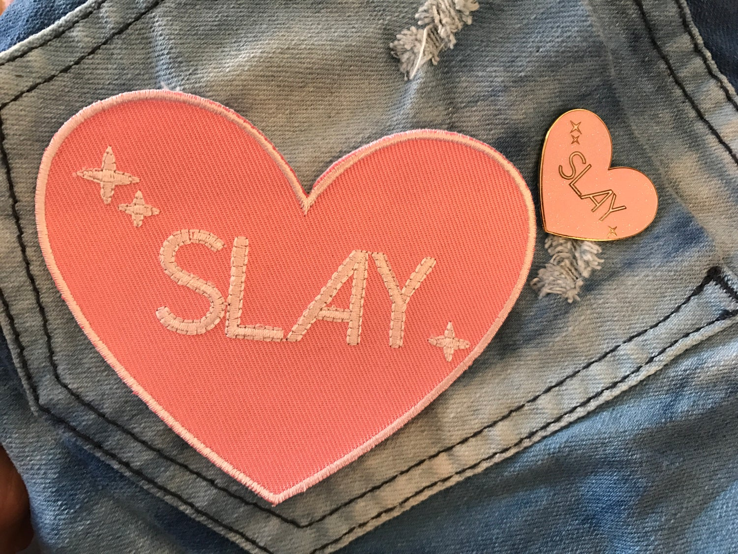 Image of Slay Pin + Patch Set