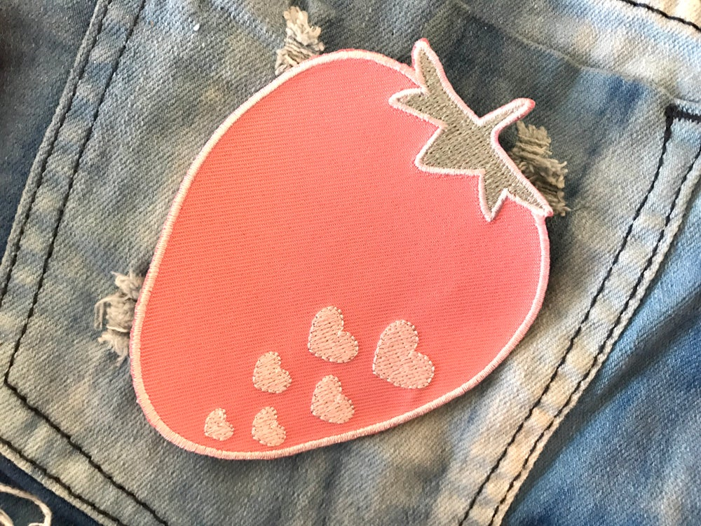 Image of Strawberry Iron-on Patch