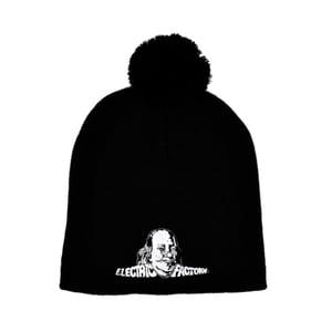 Image of Electric Factory Logo Black Knit Pom Hat