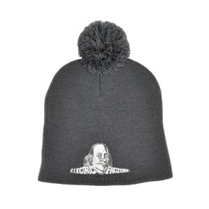 Image of Electric Factory Logo Grey Knit Pom Hat