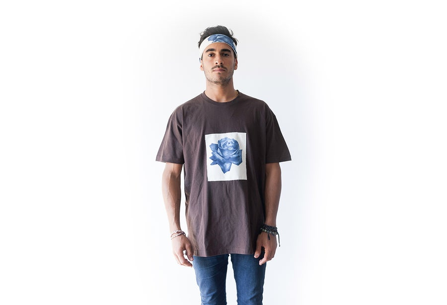 Image of Brown Rōzu artesan T-shirt