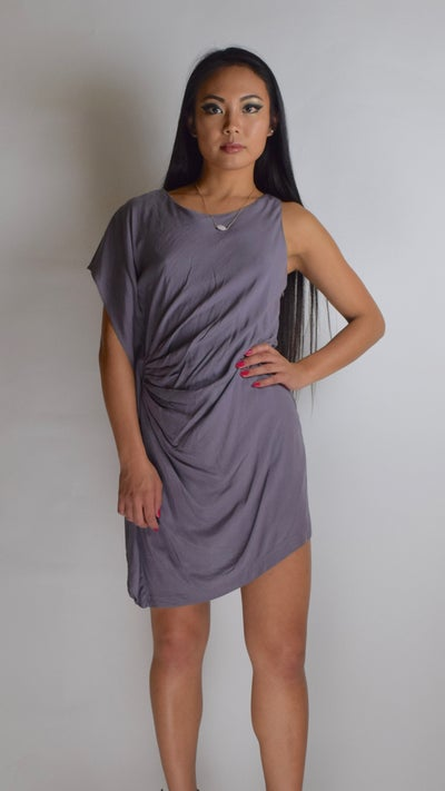 Image of Side Ruched Dress