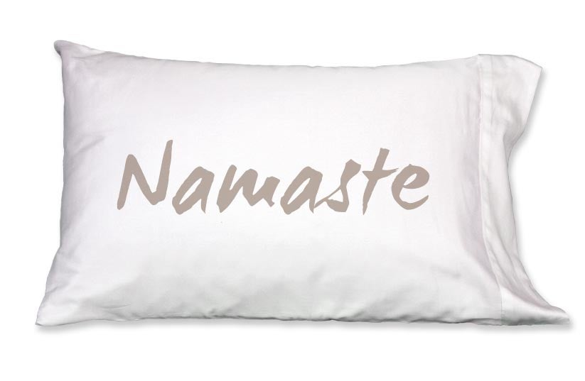 Faceplant Pillowcases Best NAMASTE Pillowcase By Faceplant Dreams 60th Street Boutique