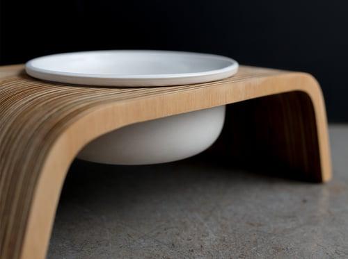 Image of Dog Bowl Stand Set: Single Short