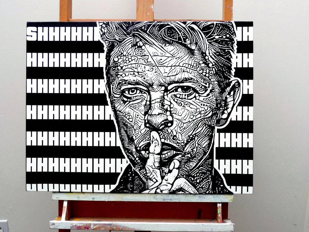 Image of SHHHHHHHHHH...18inX24in stretched canvas print