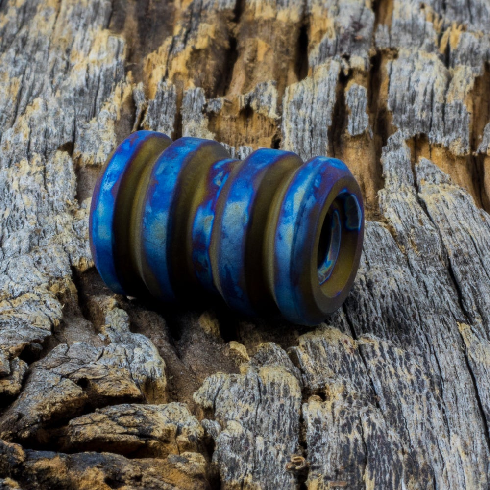 Image of Tank Flame Grilled Finish Ti Bead #1