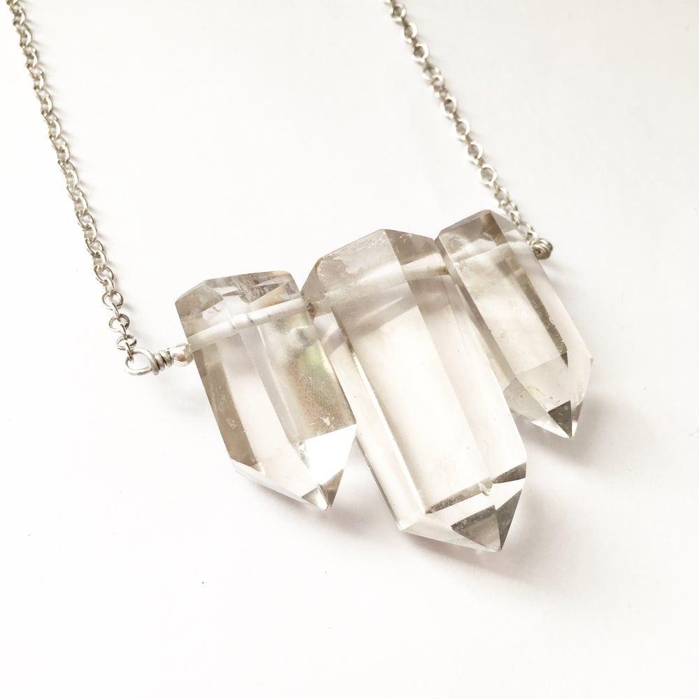 Image of Sirens Necklace - polished Quartz, Sterling silver