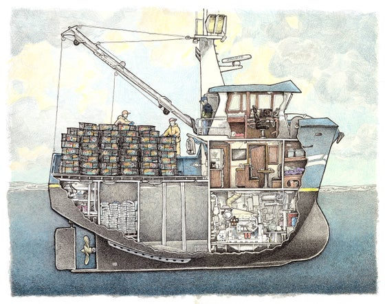 "Image of Crabber No 2  12"" X 14"""