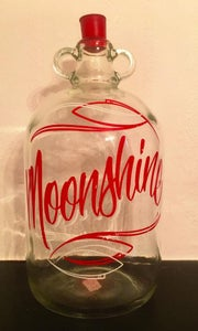 Image of Hand Lettered and Pinstriped Moonshine Demi John