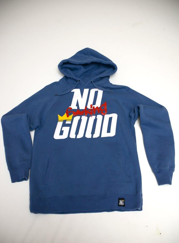 Image of No F'in Good Hoody - Unisex *Denim Blue*