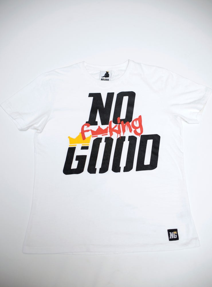 Image of No F'in Good Urban Fit T-shirt.  EarthPositive® *White/Black*